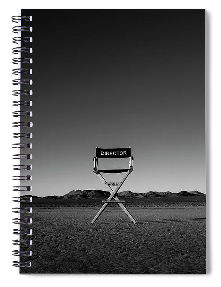Spiral Notebook featuring the photograph Director's Cut by Brendan North