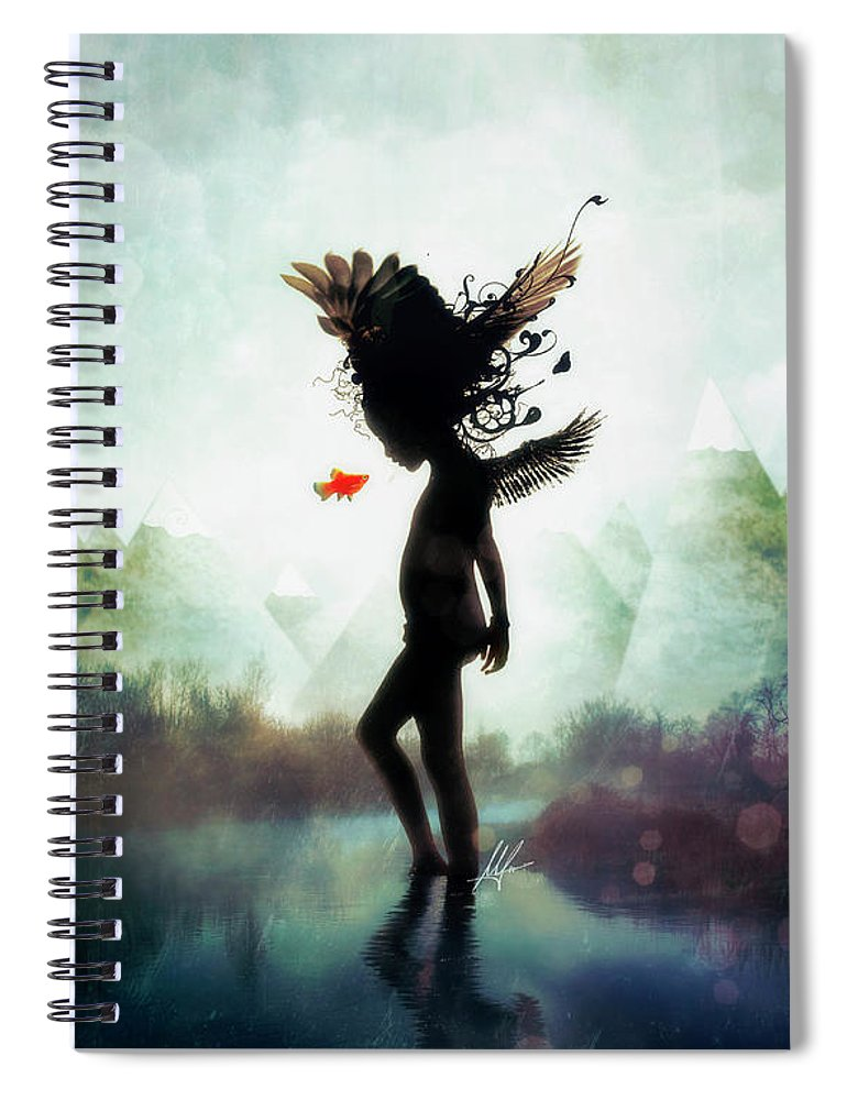 Digital Art Spiral Notebook featuring the digital art Discovery by Mario Sanchez Nevado