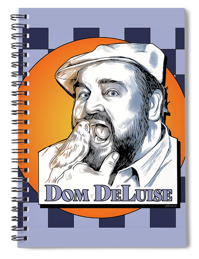Dom Deluise Spiral Notebook featuring the digital art Dom and the Bird by Greg Joens