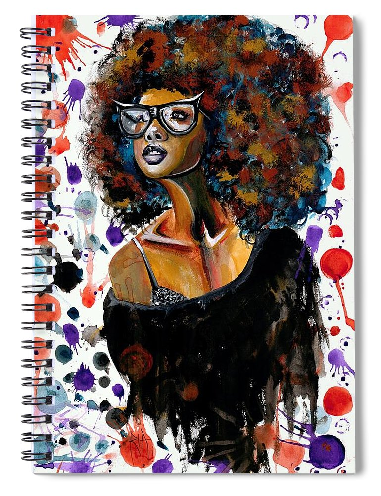 Sexy Spiral Notebook featuring the painting Dope Chic by Artist RiA