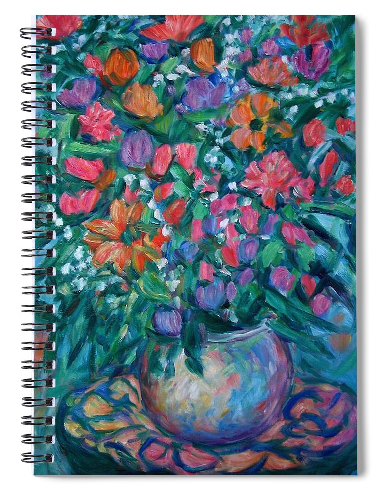Floral Paintings Spiral Notebook featuring the painting Dream Bouquet by Kendall Kessler
