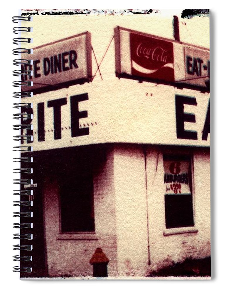 Polaroid Transfer Spiral Notebook featuring the photograph Eat Rite by Jane Linders