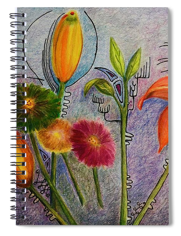 Flowers Spiral Notebook featuring the photograph Flowers for Me by Suzanne Udell Levinger