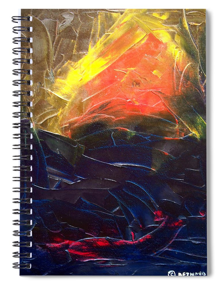 Duck Spiral Notebook featuring the painting Forest .Part1 by Sergey Bezhinets