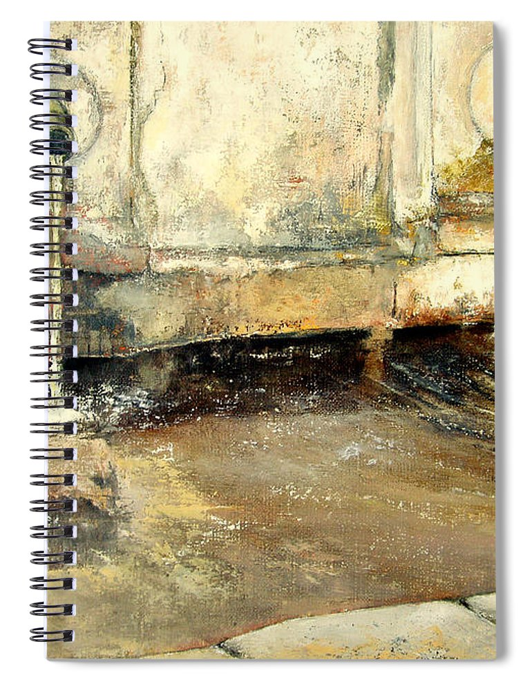 Fuente Spiral Notebook featuring the painting Fuente by Tomas Castano