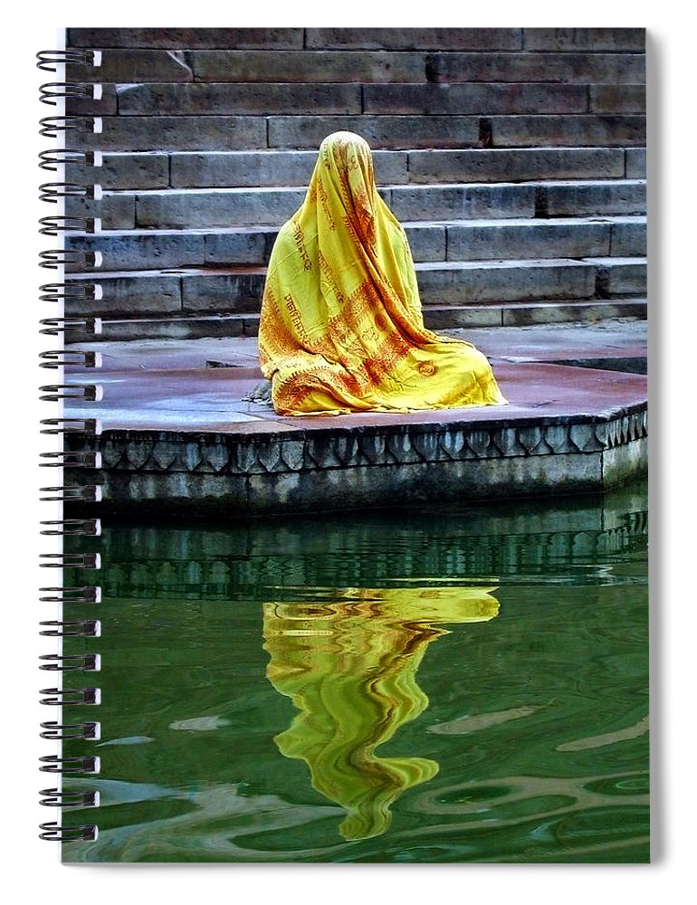 Meditate Spiral Notebook featuring the photograph Ganga Dream by Skip Hunt