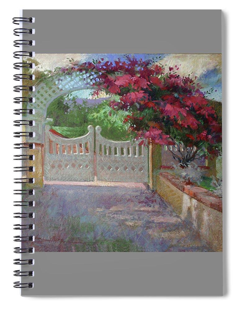 Catalina Island Spiral Notebook featuring the painting Gateway Splendor - Catalina Island by Betty Jean Billups