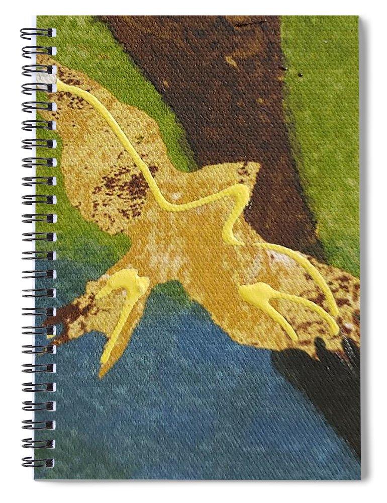 Bird Spiral Notebook featuring the photograph Golden Bird I I by Rob Hans