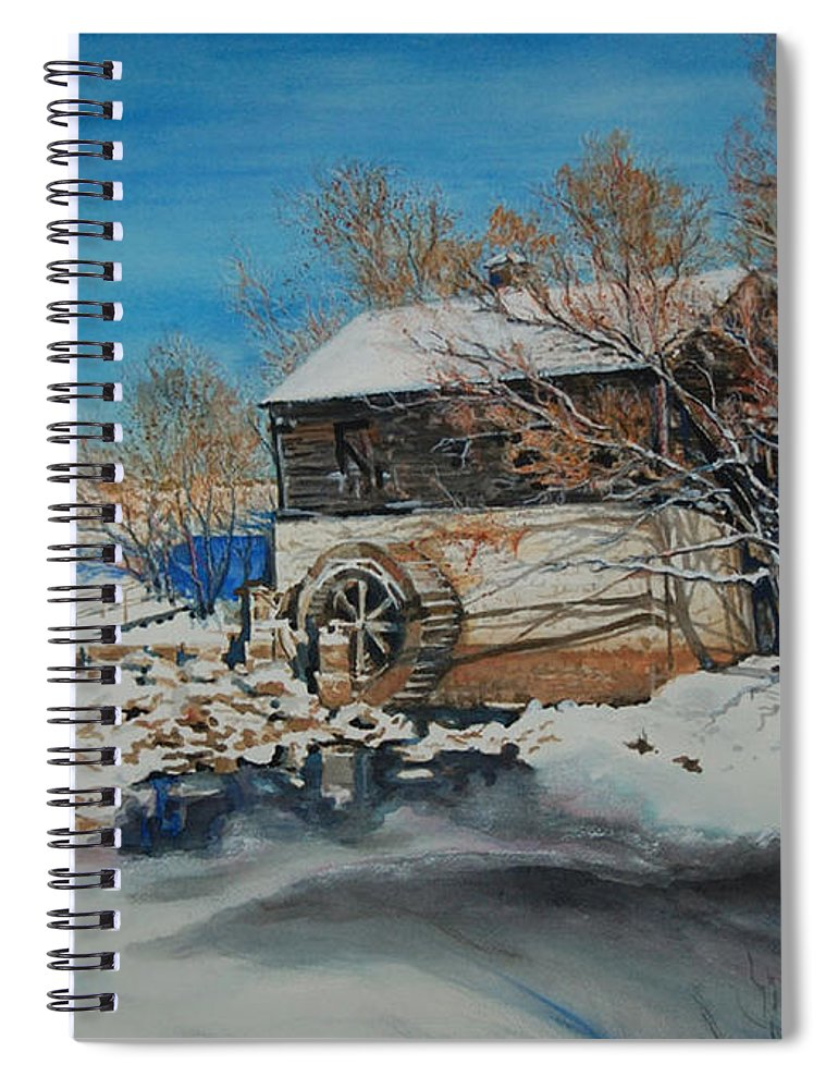 Mill Spiral Notebook featuring the painting Grants Old Mill by Susan Moore