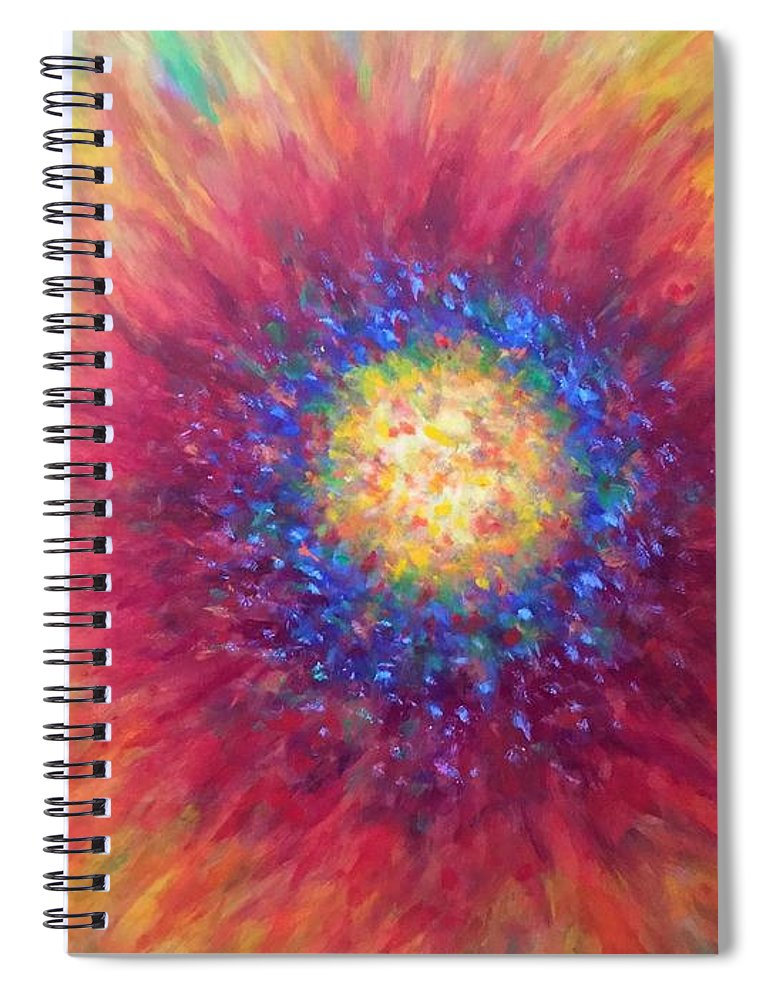 Sunflower Spiral Notebook featuring the painting Here Comes The Sun by Shannon Grissom