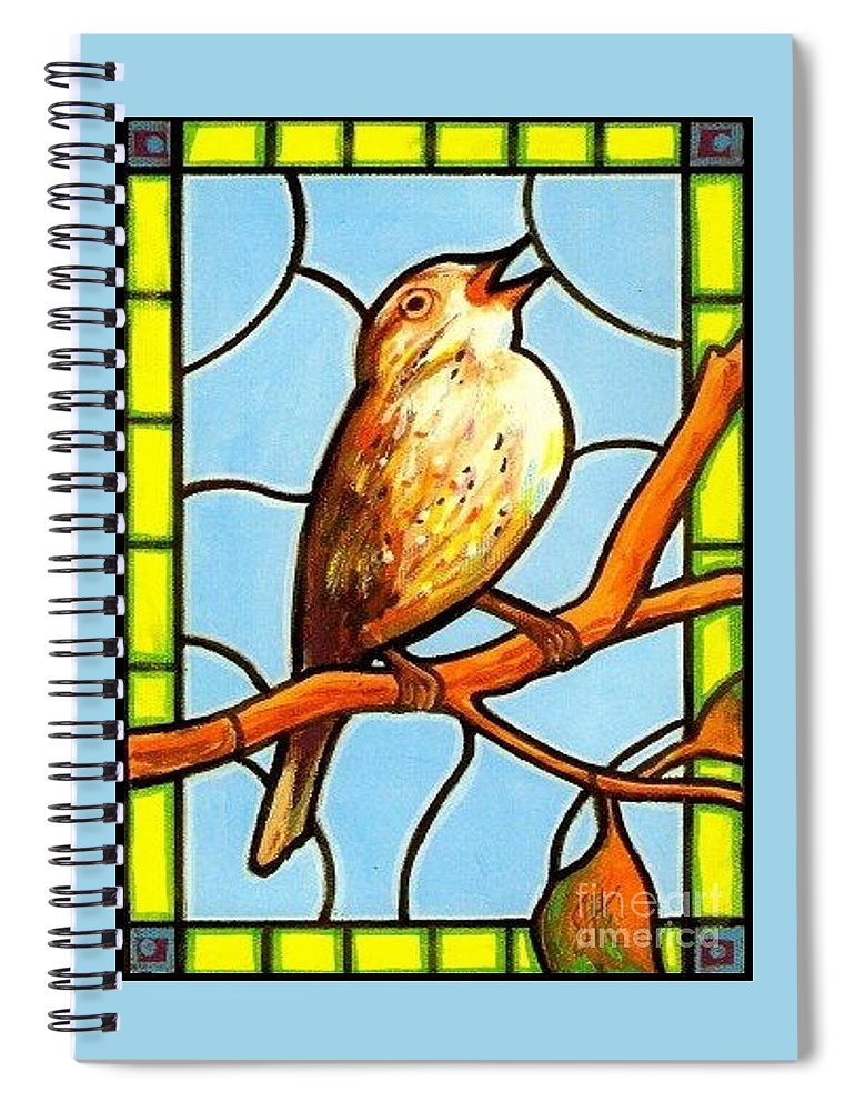 Birds Spiral Notebook featuring the painting His Eye Is On the Sparrow by Jim Harris