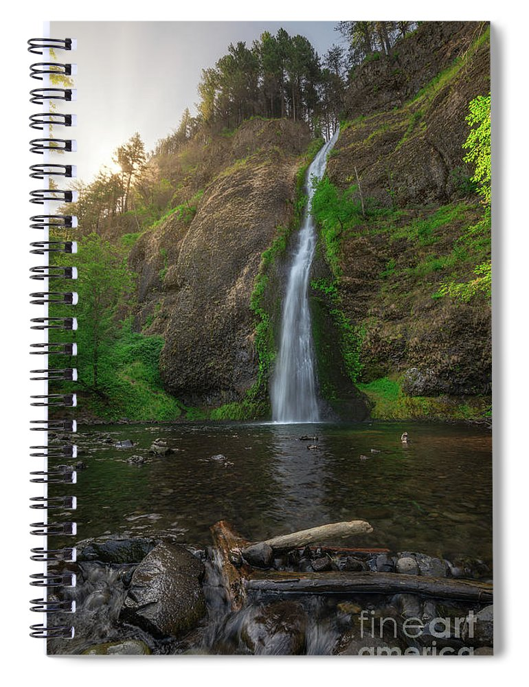 Horsetail Falls Spiral Notebook featuring the photograph Horsetail Falls by Michael Ver Sprill