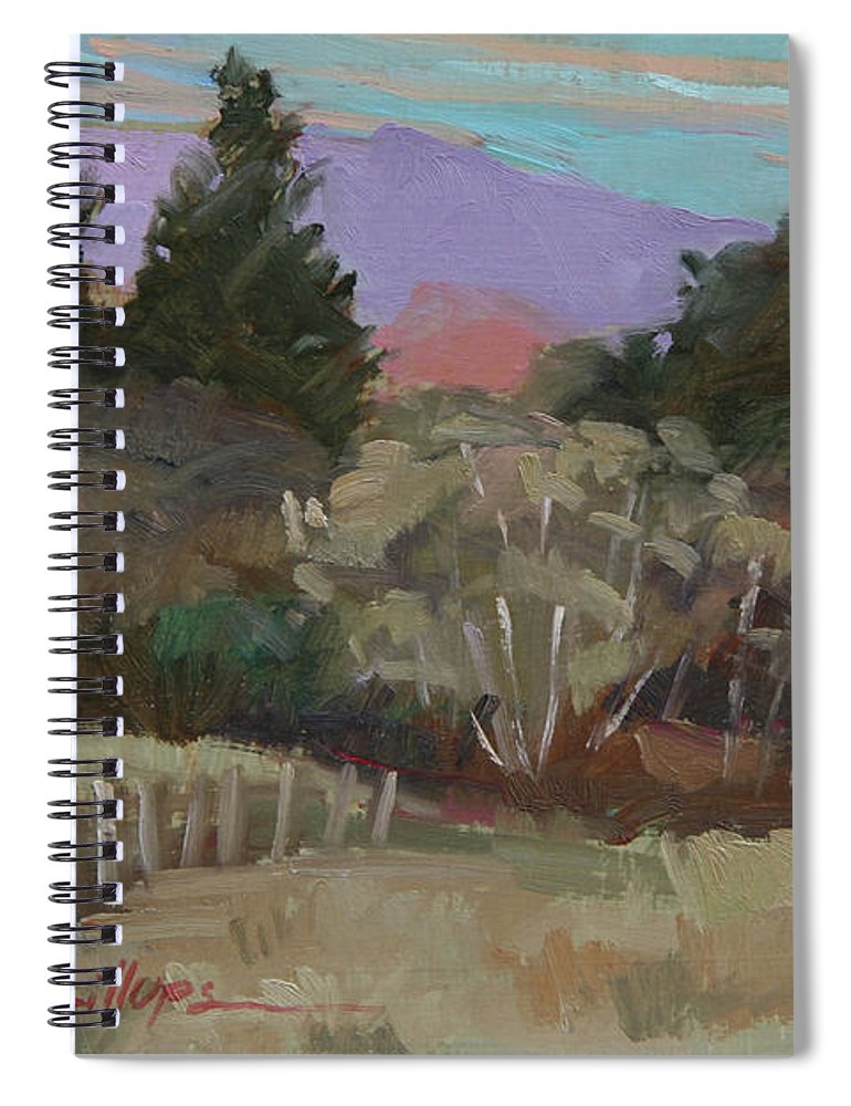 Northern California Spiral Notebook featuring the painting Humbolt Fields by Betty Jean Billups
