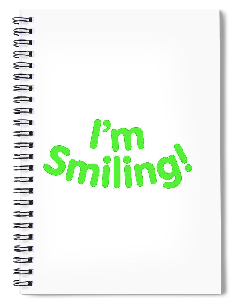 Colorado Spiral Notebook featuring the digital art I'm Smiling by Pam Roth O'Mara