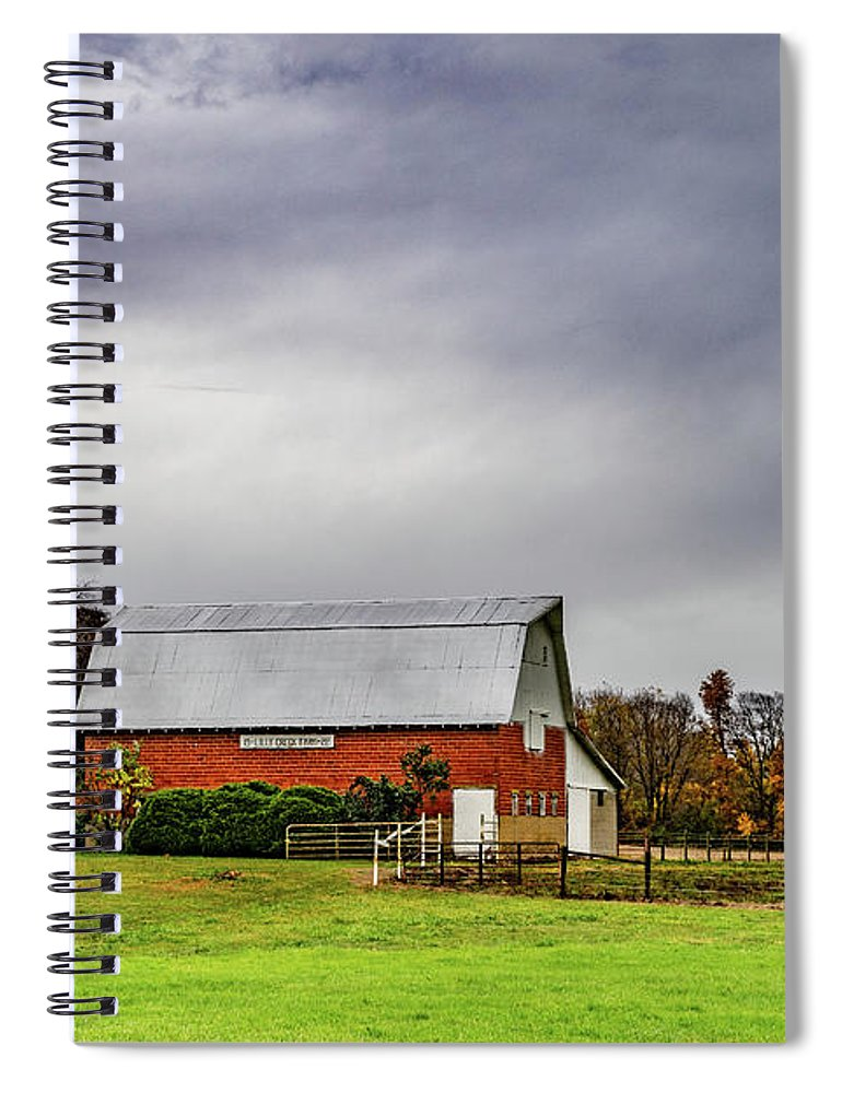 Landscape Spiral Notebook featuring the photograph Indiana Barn #112 by Scott Smith