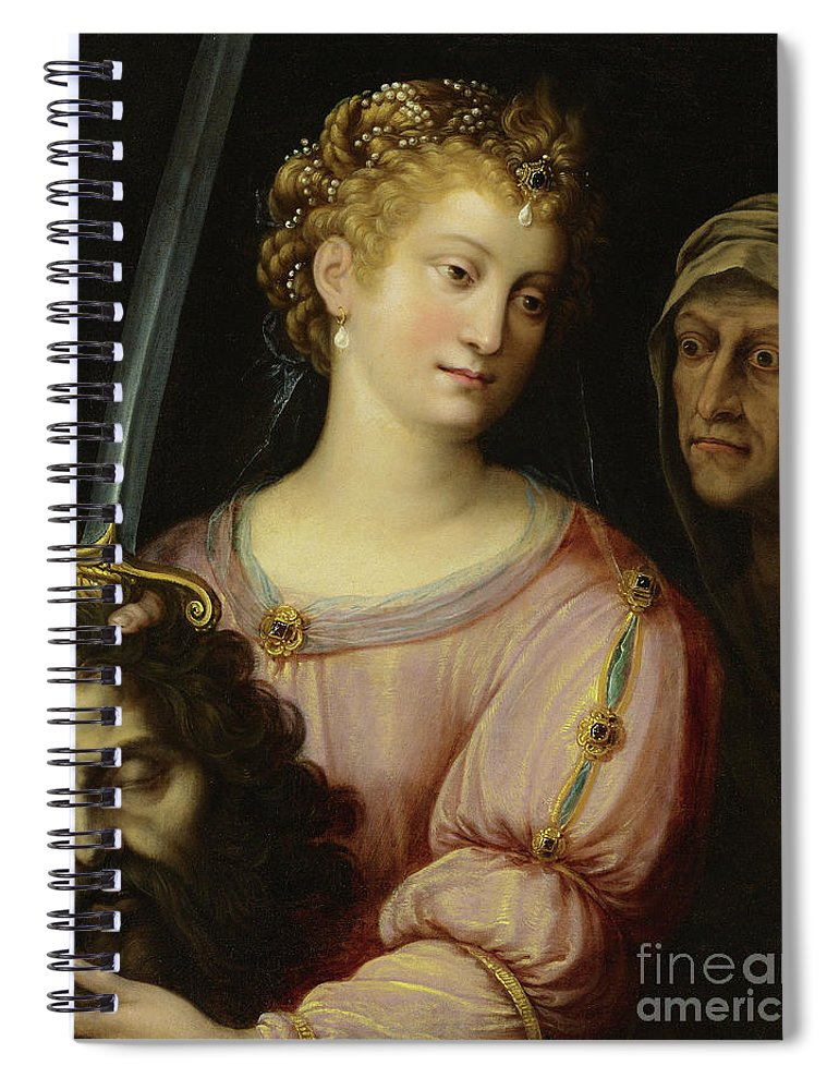 Old Testament Spiral Notebook featuring the painting Judith With The Head Of Holofernes by Fede Galizia