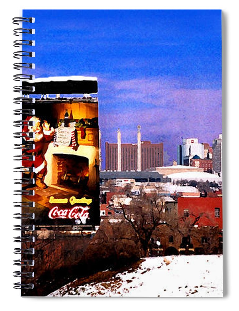City Spiral Notebook featuring the photograph Kansas City Skyline at Christmas by Steve Karol
