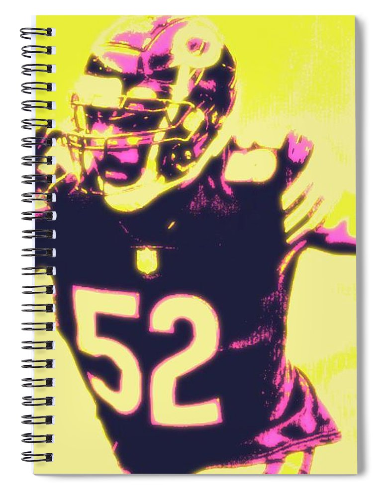 Khalil Spiral Notebook featuring the painting Khalil Mack by Jack Bunds