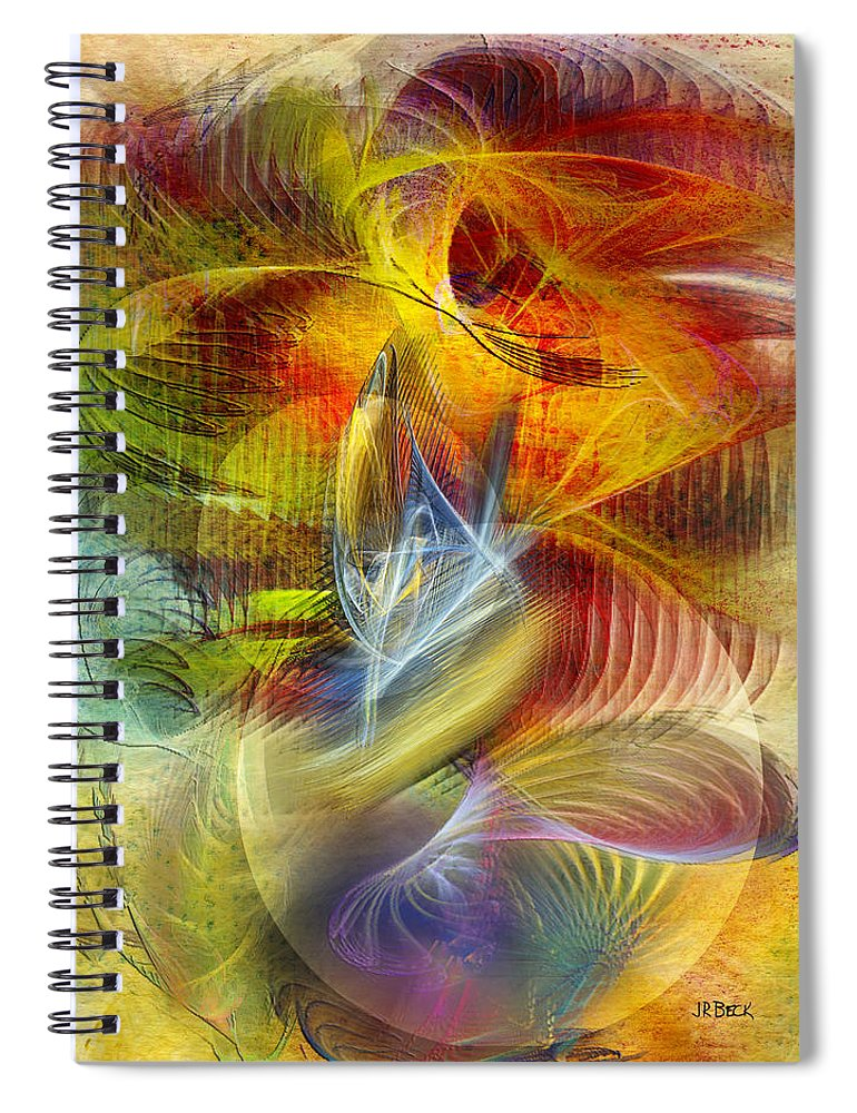 Affordable Art Spiral Notebook featuring the digital art Lady And Her Shells by John Robert Beck