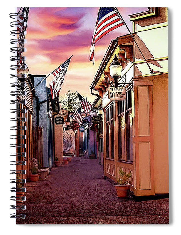 Orange Spiral Notebook featuring the digital art Liberty Way by Linda Lee Hall