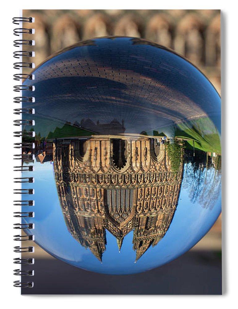 Lichfield Spiral Notebook featuring the photograph Lichfield lens ball by Steev Stamford