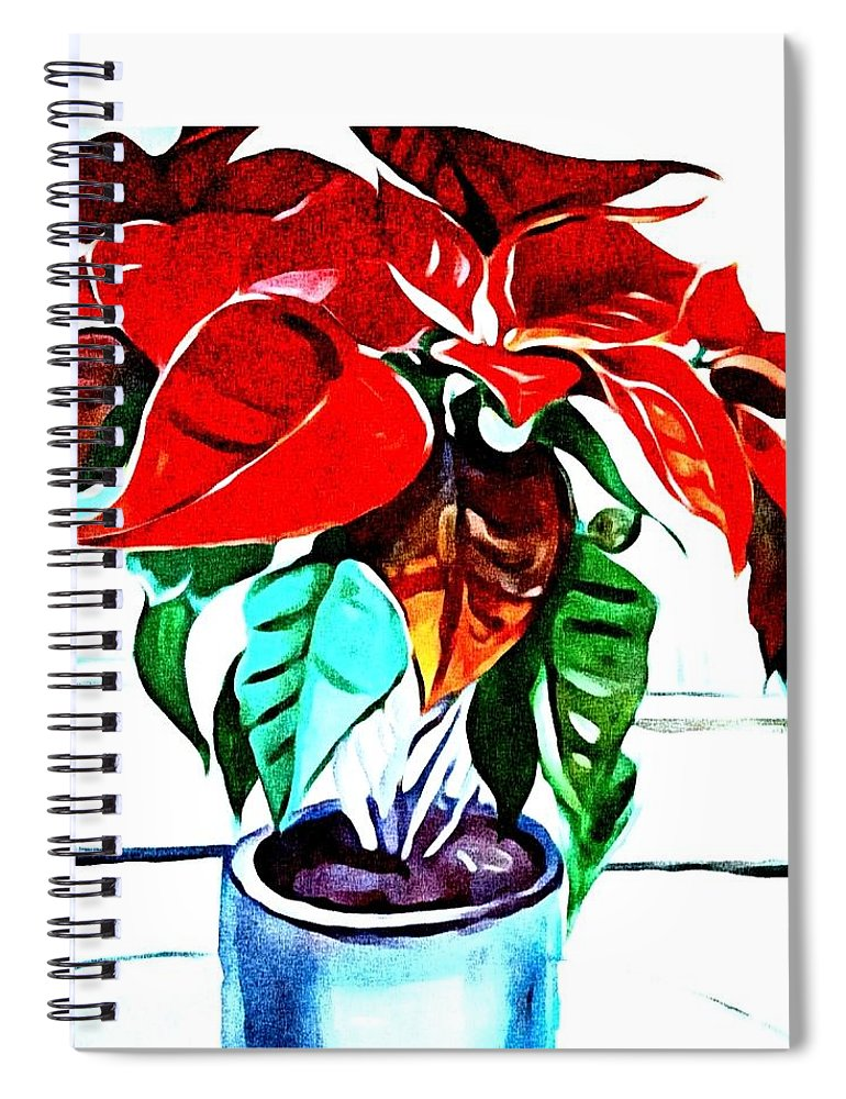 Still Life Spiral Notebook featuring the painting Living Flower by Andrew Johnson