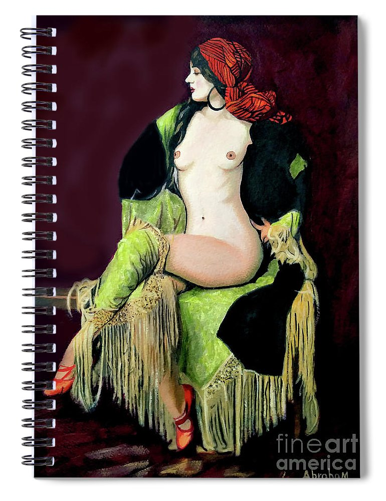 Women Spiral Notebook featuring the painting Looking Good by Jose Manuel Abraham