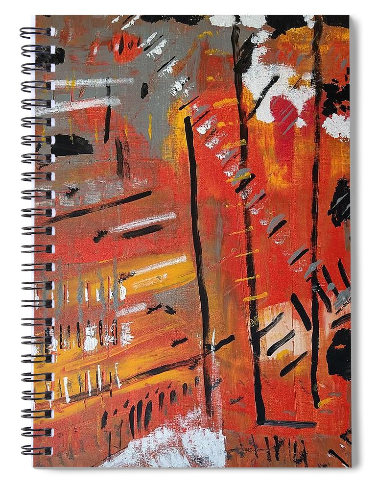 Colorado Spiral Notebook featuring the painting Looking Like October by Pam Roth O'Mara