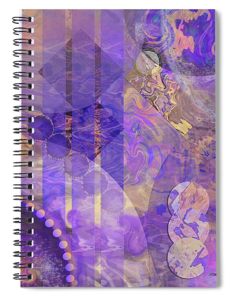 Lunar Impressions 2 Spiral Notebook featuring the digital art Lunar Impressions 2 by John Robert Beck
