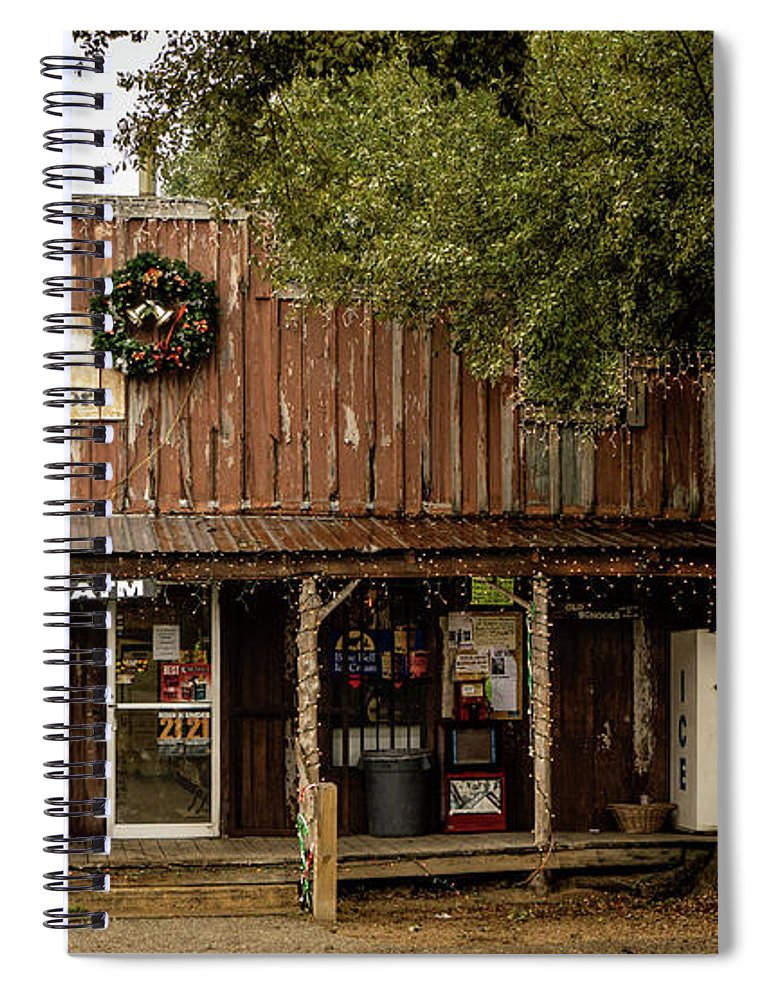 Store Spiral Notebook featuring the photograph Lytton Springs General Store by Linda Lee Hall