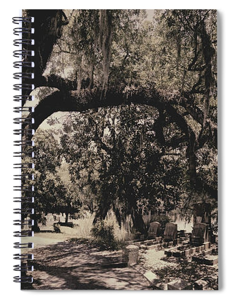 Castle Spiral Notebook featuring the photograph Magnolia Cemetery by James Christopher Hill