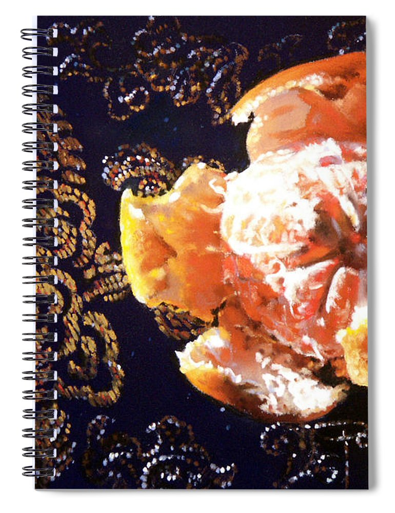 Mandarin Spiral Notebook featuring the painting Mandarin by Dianna Ponting