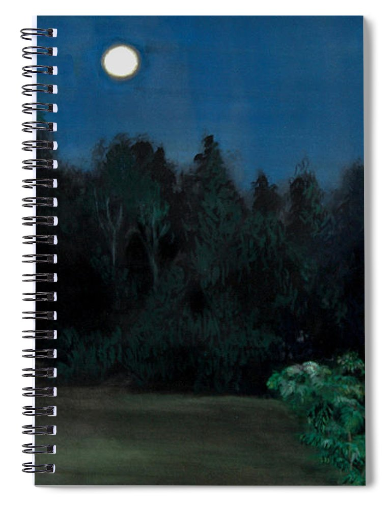 Moon Spiral Notebook featuring the painting Moon Shadow by Susan Moore