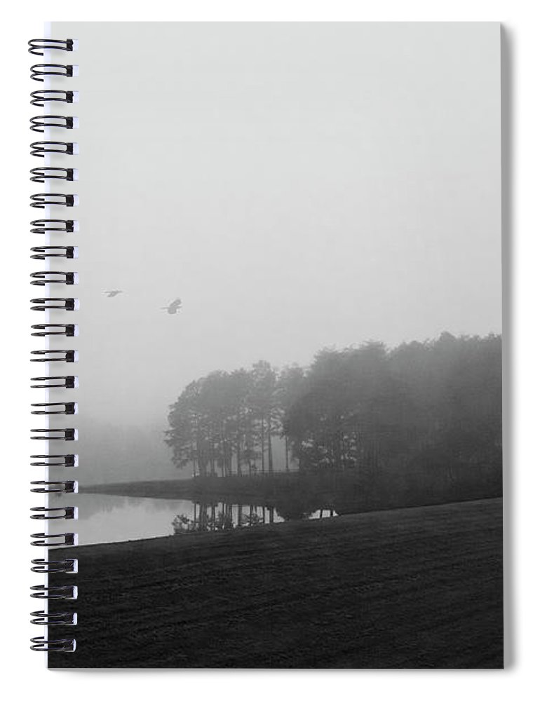 Black And White Spiral Notebook featuring the photograph Mountain Run Lake by Linda Lee Hall