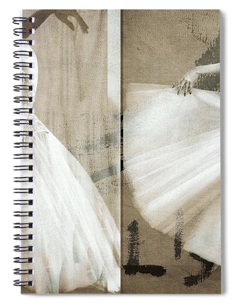 Ballet Spiral Notebook featuring the digital art Move Closer by Paul Lovering