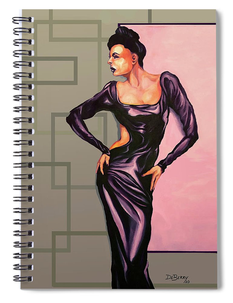 Ms Jane: Original Creation By Lloyd Deberry Spiral Notebook featuring the painting MS Jane by Lloyd DeBerry