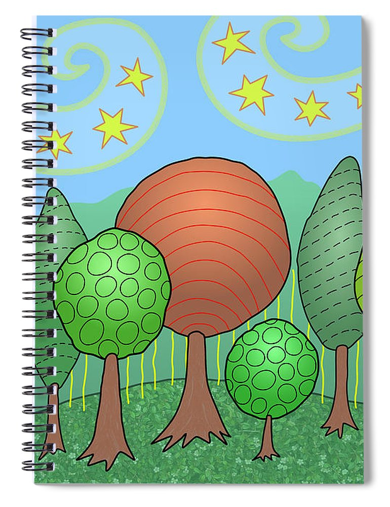 Family Spiral Notebook featuring the digital art My Family by Susan Bird Artwork