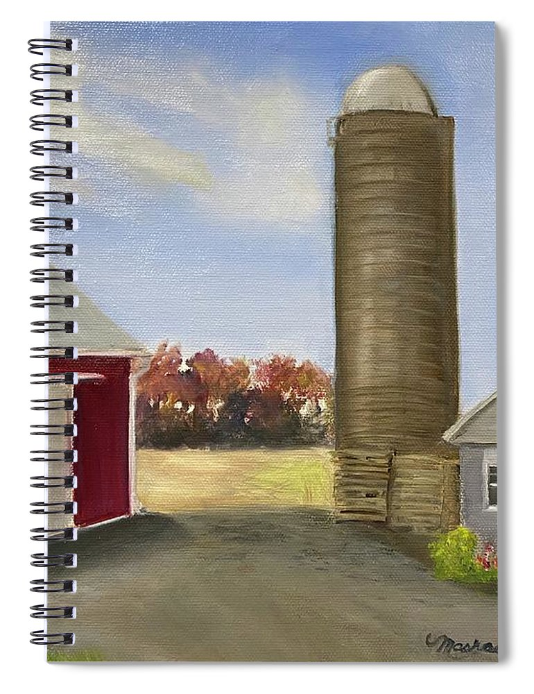 Plein Aire Spiral Notebook featuring the painting Nancys Farm by Sheila Mashaw