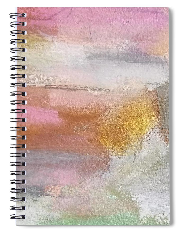 Abstract Spiral Notebook featuring the painting Nothing Can Dim the Light by Patricia Byron