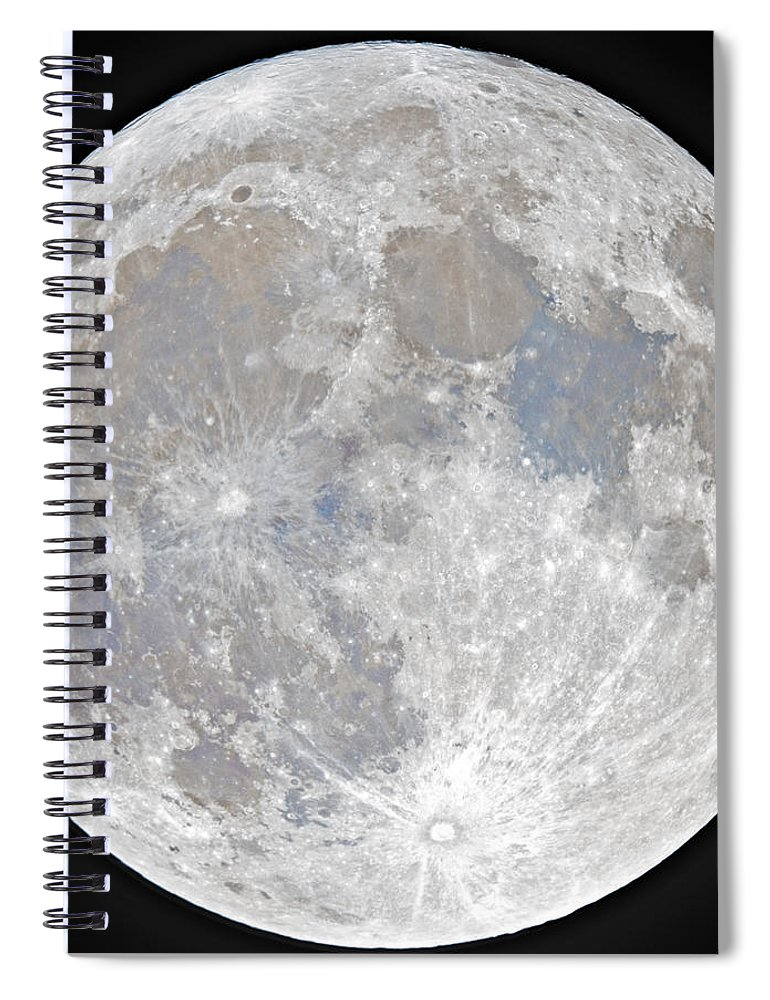 Fullmoon Spiral Notebook featuring the photograph October 2020 Halloween Full/Blue Moon by Prabhu Astrophotography