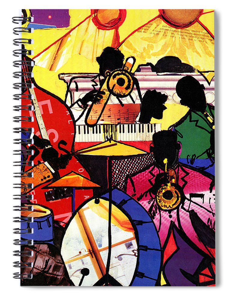Everett Spruill Spiral Notebook featuring the painting Old School Jazz by Everett Spruill