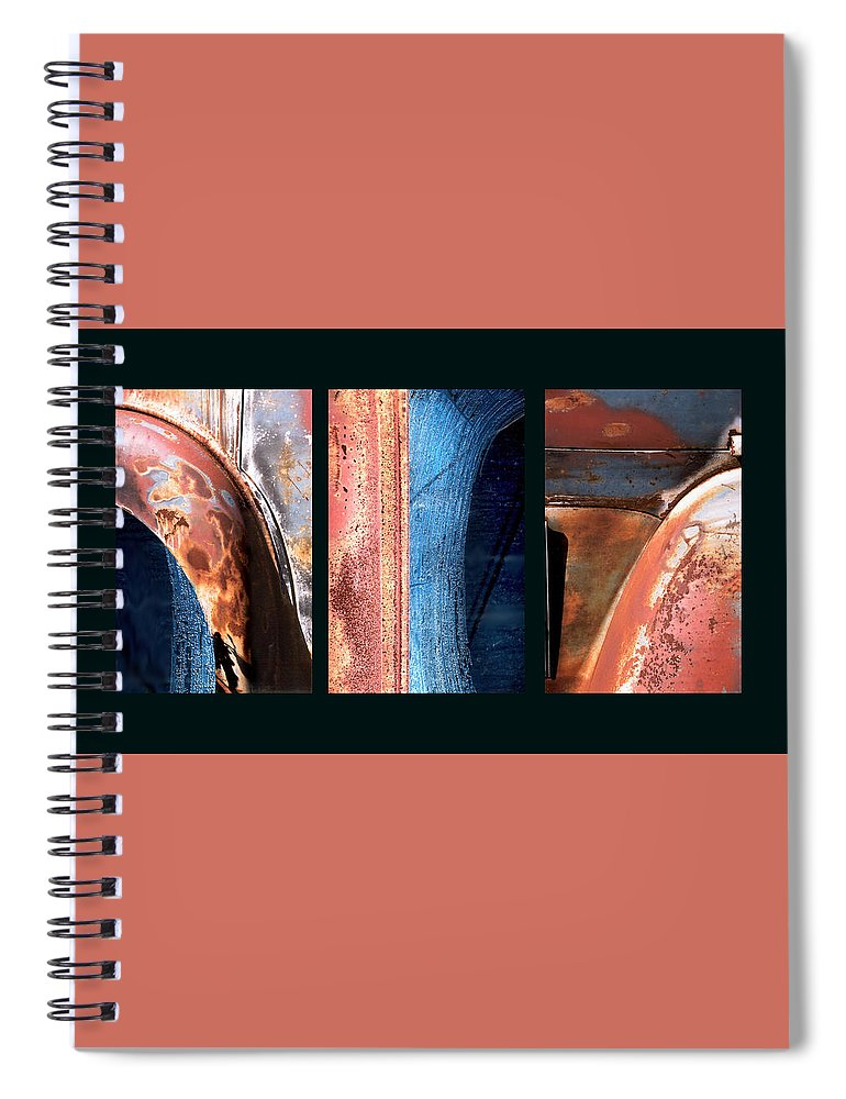 Abstract Spiral Notebook featuring the photograph Ole Bill by Steve Karol