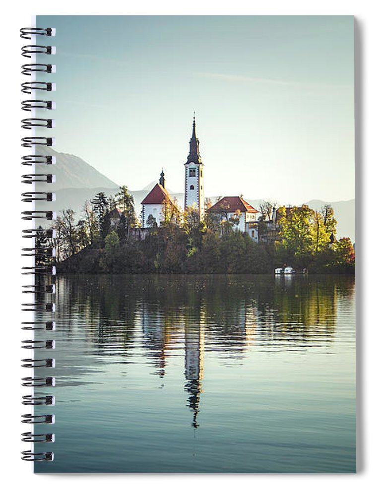Kremsdorf Spiral Notebook featuring the photograph Once Upon A Lake by Evelina Kremsdorf