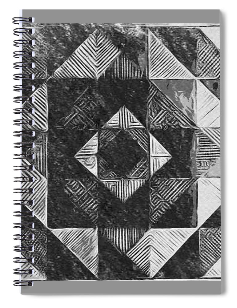 Art Spiral Notebook featuring the digital art Originated From Within by Andrew Johnson