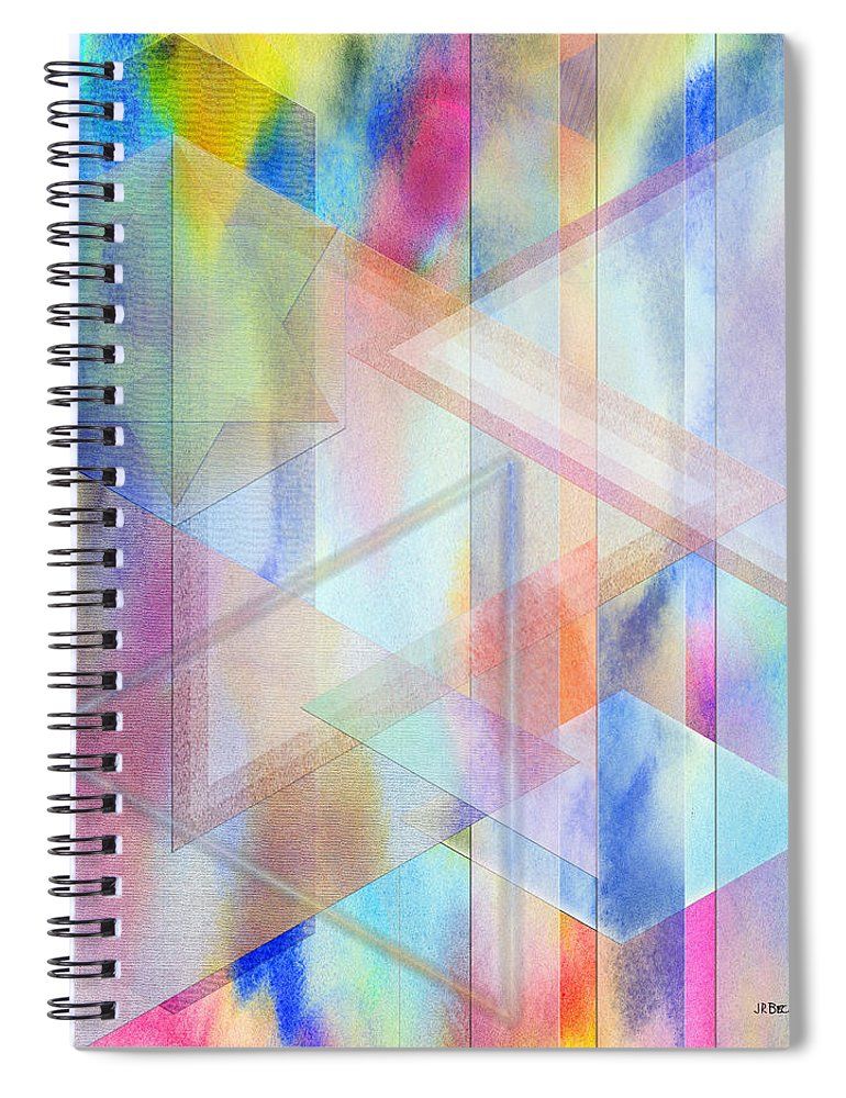 Pastoral Moment Spiral Notebook featuring the digital art Pastoral Moment by John Robert Beck
