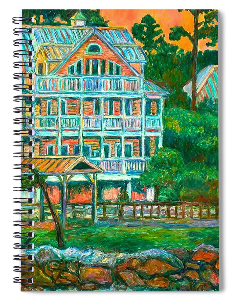 Landscape Spiral Notebook featuring the painting Pawleys Island Evening by Kendall Kessler