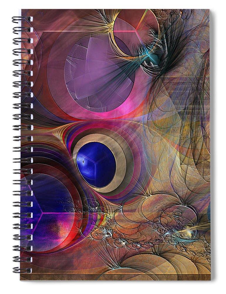 Peace Spiral Notebook featuring the digital art Peace Will Come by John Robert Beck