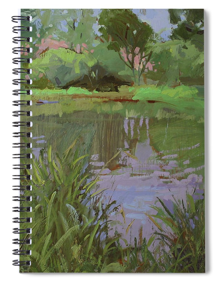 Plein Air Painting Spiral Notebook featuring the painting Peaceful Hideaway by Betty Jean Billups