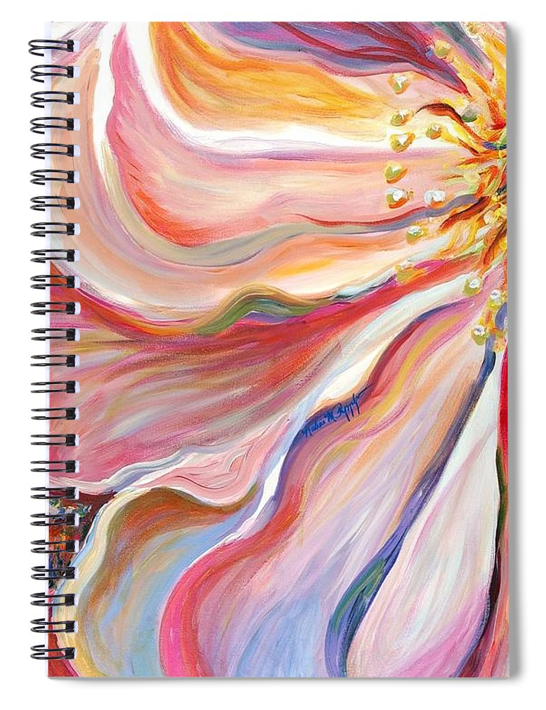 Pink Poppy Spiral Notebook featuring the painting Pink Poppy by Nadine Rippelmeyer