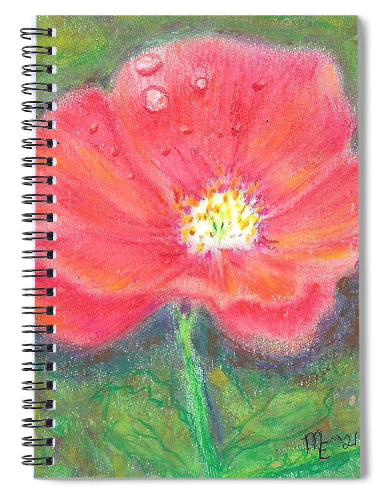 Poppy Spiral Notebook featuring the painting Poppy by Monica Resinger